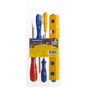 Juego-de-destornilladores-6-soporte-de-plástico